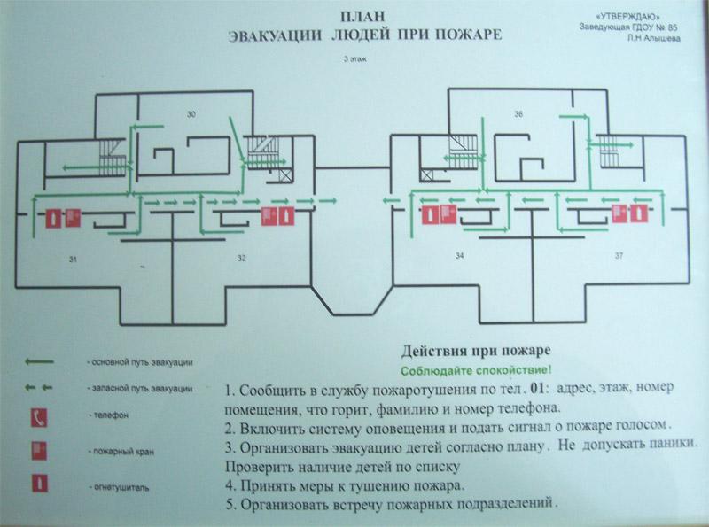 Изготовление плана эвакуации